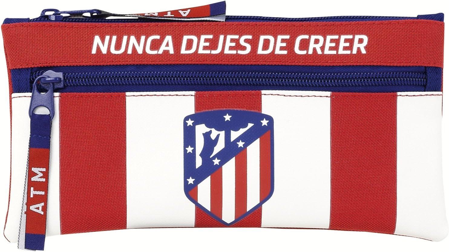 Safta Estuche Doble Cremallera Atlético De Madrid Oficial Escolar 230x110mm: Amazon.es: Juguetes y juegos