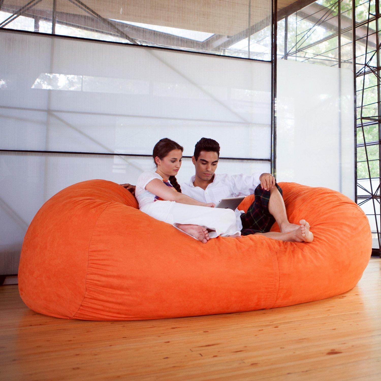 Amazon Jaxx 7 ft Giant Bean Bag Sofa Mandarin Kitchen & Dining