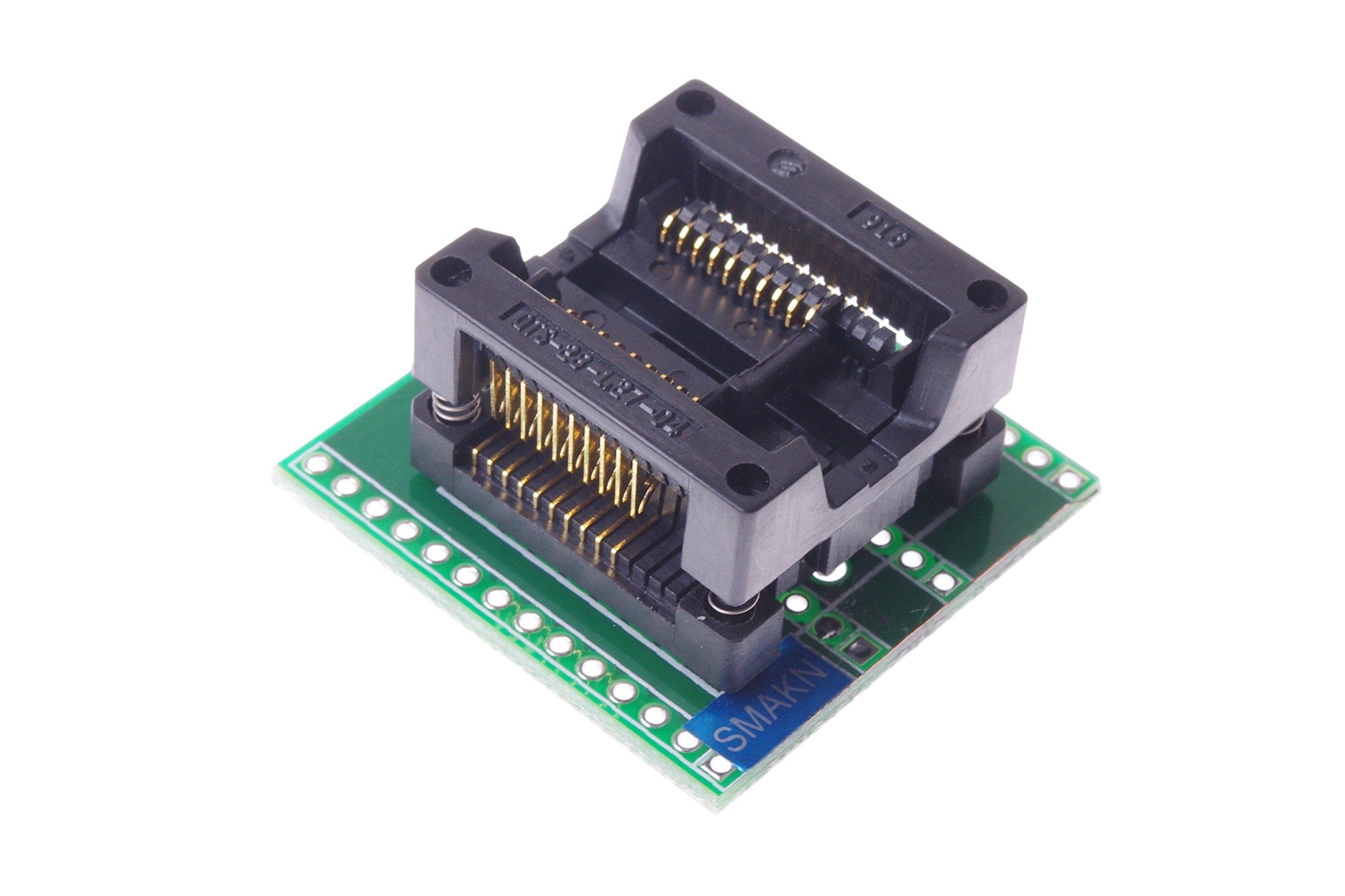 SMAKN® SOP20 TO DIP20 (A) OTS-20-1.27-04 SOP20 SOIC20 SO20 Pitch 1.27 mm Enplas IC MCU Test Socket Programming Adapter