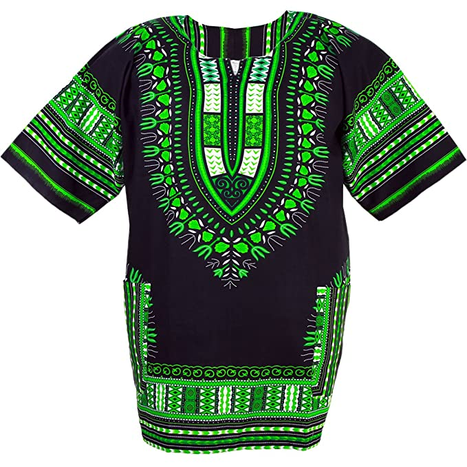 45f1af7bc3d8 Chainupon African Dashiki Cotton Shirt Unisex Tribal Festival Boho Hippie  Kaftan  Amazon.co.uk  Clothing
