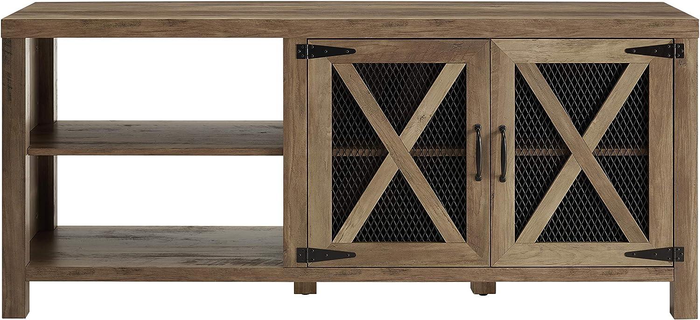 WE Furniture AZ58ABMDRO TV Stand 58 Rustic Oak