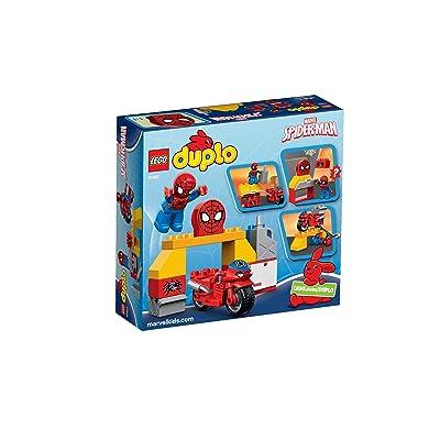 LEGO - El Taller de la Moto Araña de Spider-Man, (10607): Juguetes y juegos