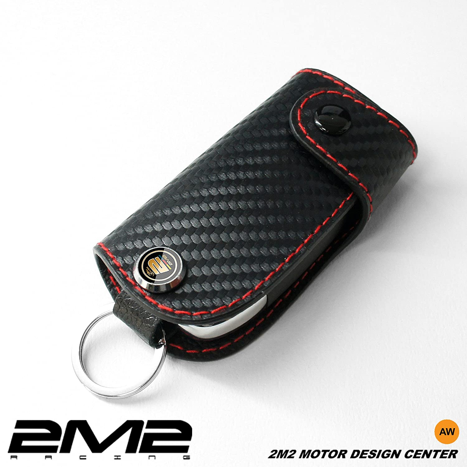 LMA02-5-B Leather key fob holder case chain cover For MAZDA2 MAZDA3 MAZDA5 MAZDA6 SPORTS MX-5 MIATA HARD TOP MAZDASPEED3 CX-9 CX-5 2M2