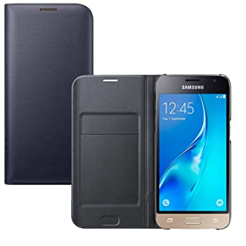 Lincivius Funda Samsung J3 2016 [Flip Cover] Carcasa Galaxy J3 2016 Proteccion con Tapa A Libro Estuche Resistente Anti Golpes Accesorios