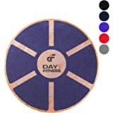 """Day 1 Fitness Balance Board, 15.4"""" – 360° Rotation, for Balance, Coordination, Posture - Large, Wooden Wobble Boards with 15° Tilting Angle for Workouts - Premium Core Trainer Equipment"""