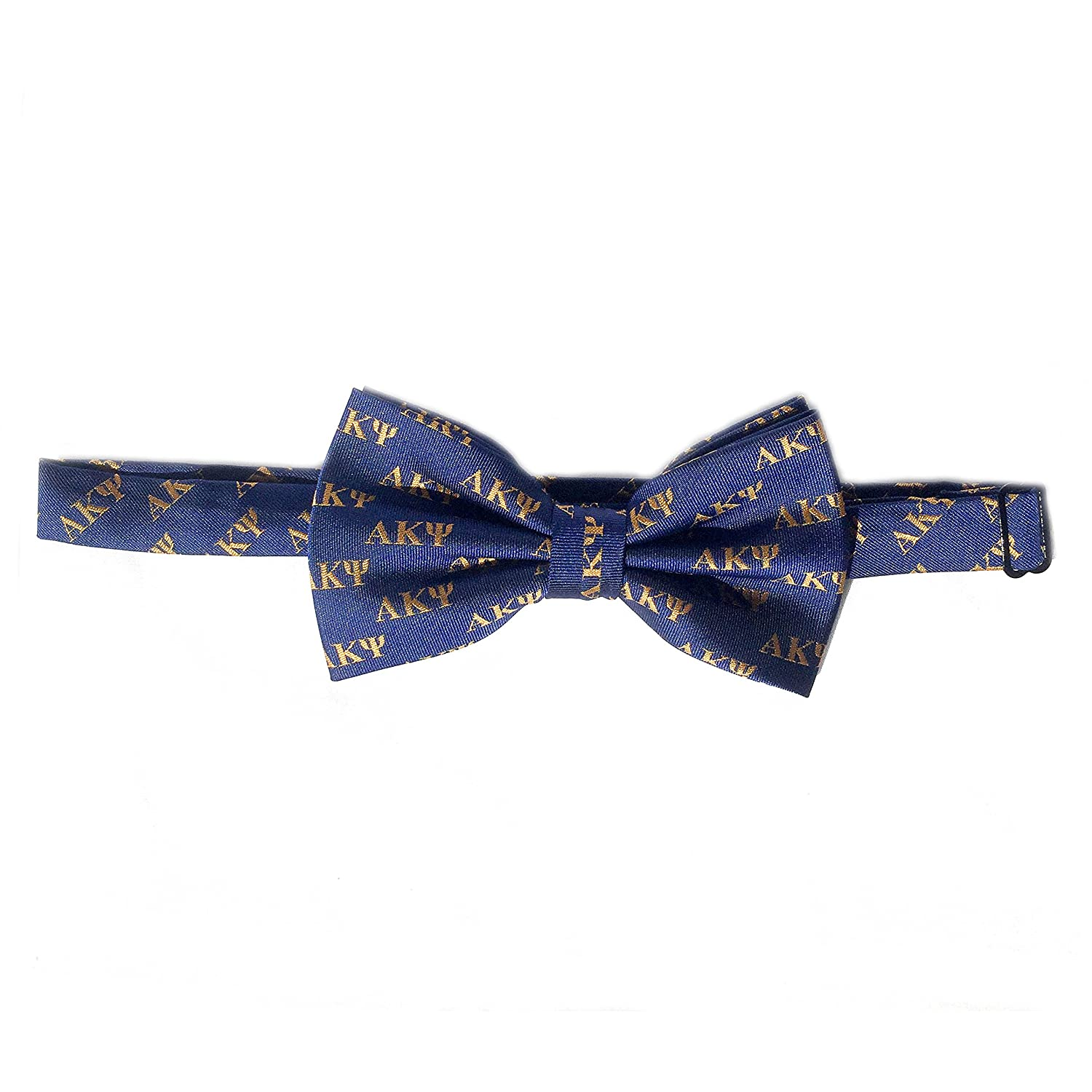 Alpha Kappa Psi Pre-Tied Bow Tie Fraternity Greek Formal Occasion Standard Length Width AKPsi Pre-Tied Letter Bow Tie