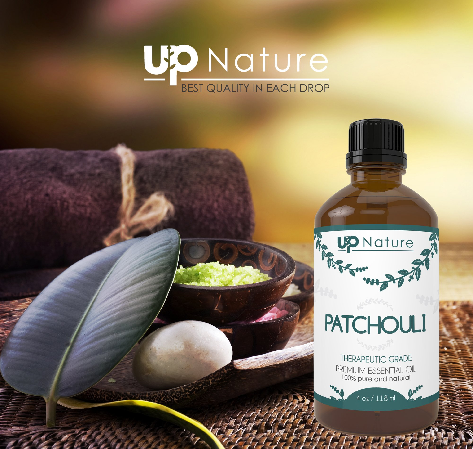 UpNature The Best Patchouli Essential Oil 4 OZ - Pure Unrefined GMO Free Premium Quality - Use As Perfume - For Soap & Spray Making by UpNature (Image #4)