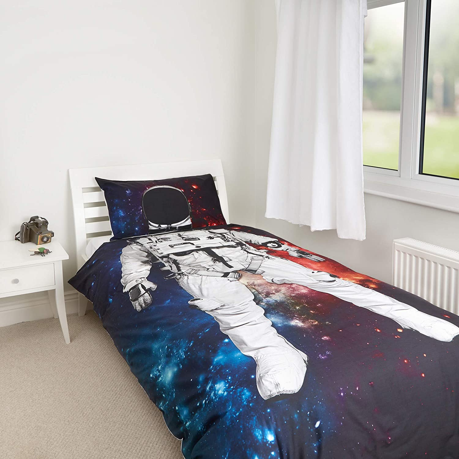 Zappi Co Character Design by The Gift Scholars Be who you want to be with these Single Duvets; Princess or Astronaut Boys /& Girls Single Duvet set W matching pillow case Astronaut