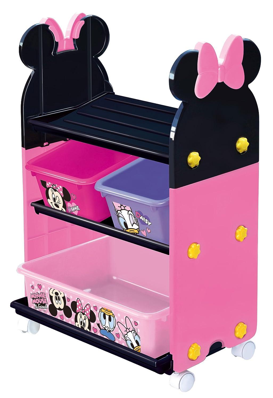トールトイステーション 【おもちゃ収納】 【送料無料】 ミニーマウス 【錦化成】 【おもちゃ箱】 【P-fri】 ピンク