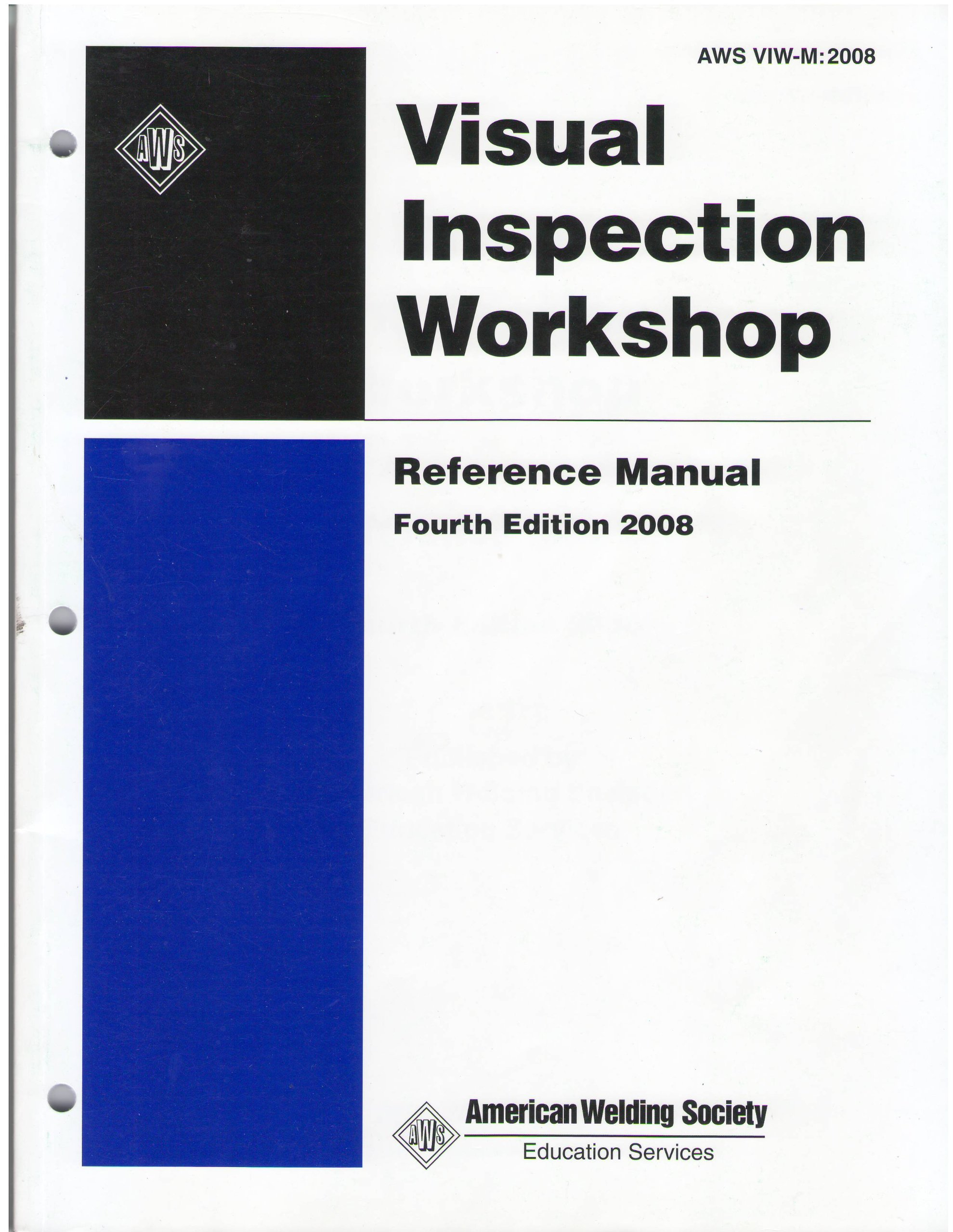 visual inspection workshop reference manual american welding rh amazon com Certified Welding Inspector Training Online Certified Welding Inspector Training Online