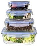 Amazon Price History for:[Premium 4 Sets] Glass Meal Prep Food Storage Container with Snap Locking Lid, Glass Meal Prep Containers BPA-Free, Microwave, Oven, Freezer, Dishwasher Safe (62 Oz, 28 Oz, 19 Oz, 11 Oz.)