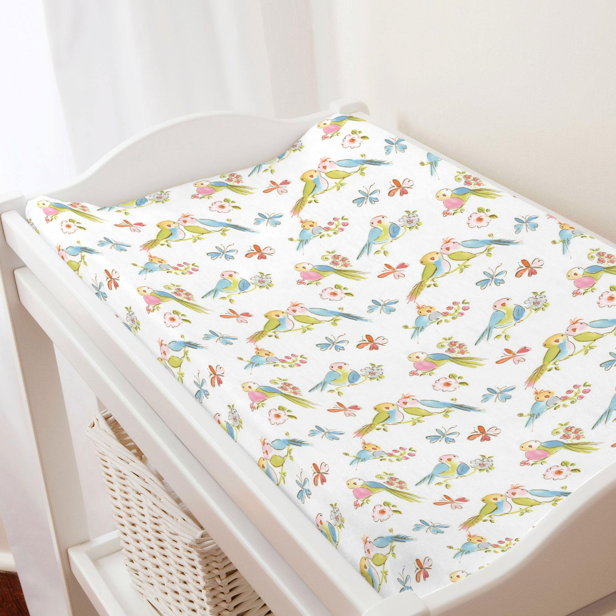 Carousel Designs Love Birds Changing Pad Cover