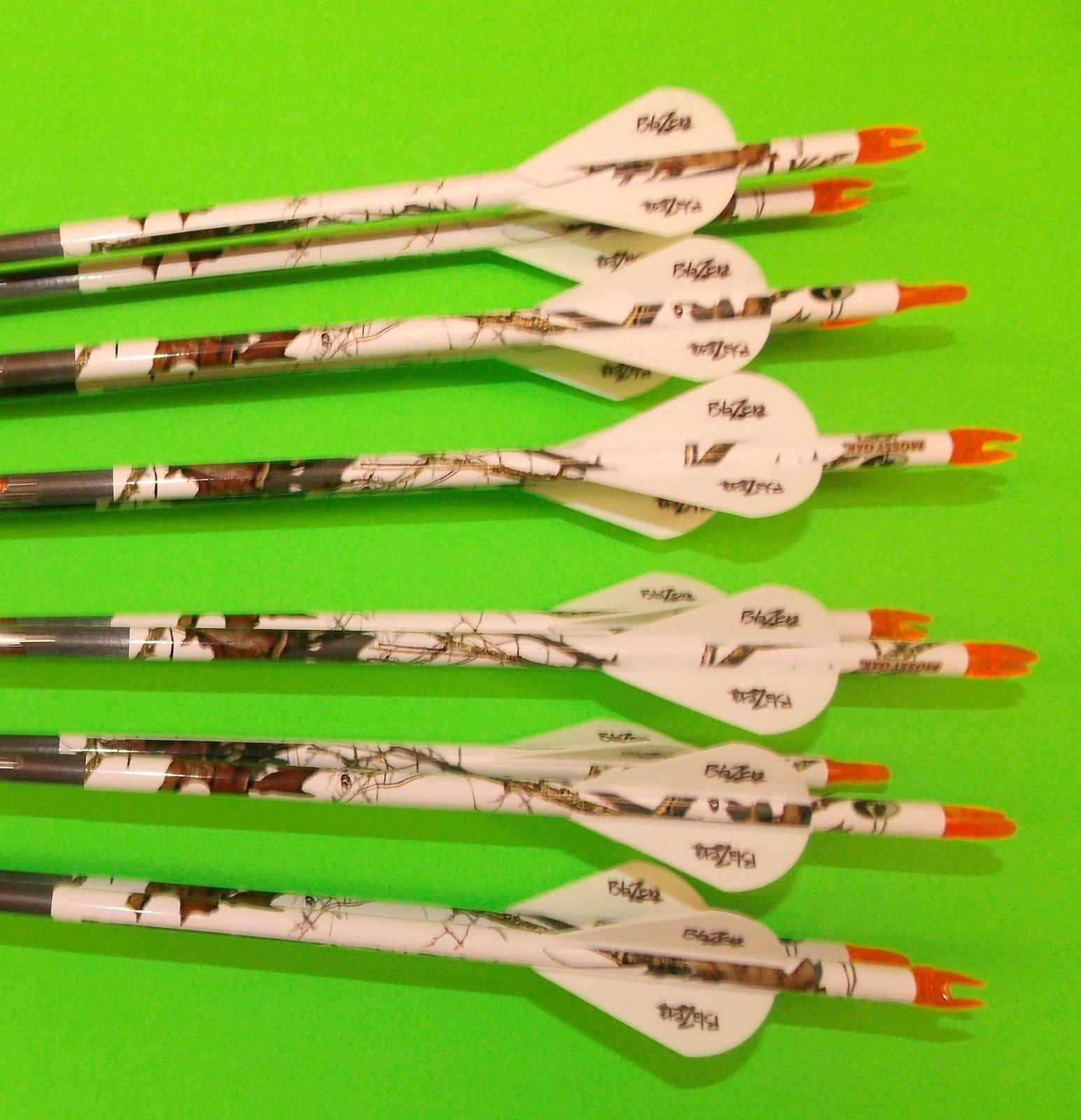 Easton ST Axis Full Metal Jacket Arrows 300/340/400/500 w/Blazer Vanes Blaze Wraps 1Dz. by ST Axis (Image #1)