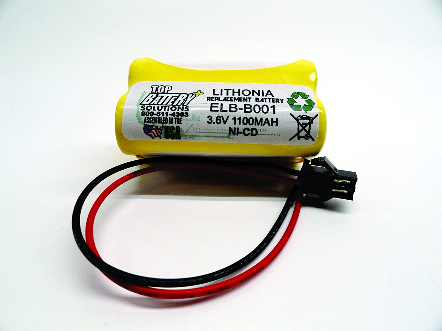 5PC Lithonia ELB B001 Replacement Emergency Light Battery