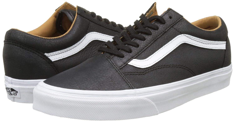 Vans Unisex Old Skool Classic Skate Shoes B01I232CIE 12 M US Women / 10.5 M US Men (Premium Leather) Black/True White