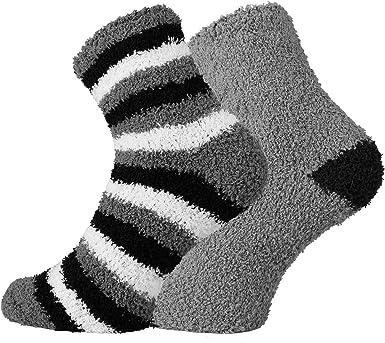 Kuschelsocken supersofte kuschelige Socken für Damen Herren /& Kinder 2 Paar