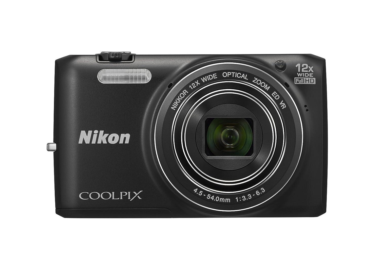 Nikon Coolpix s6800 16 MP CMOSデジタルカメラと12 xズームNikkorレンズWi - Fi、1080p HDビデオ  ブラック B00HQ4W6W8