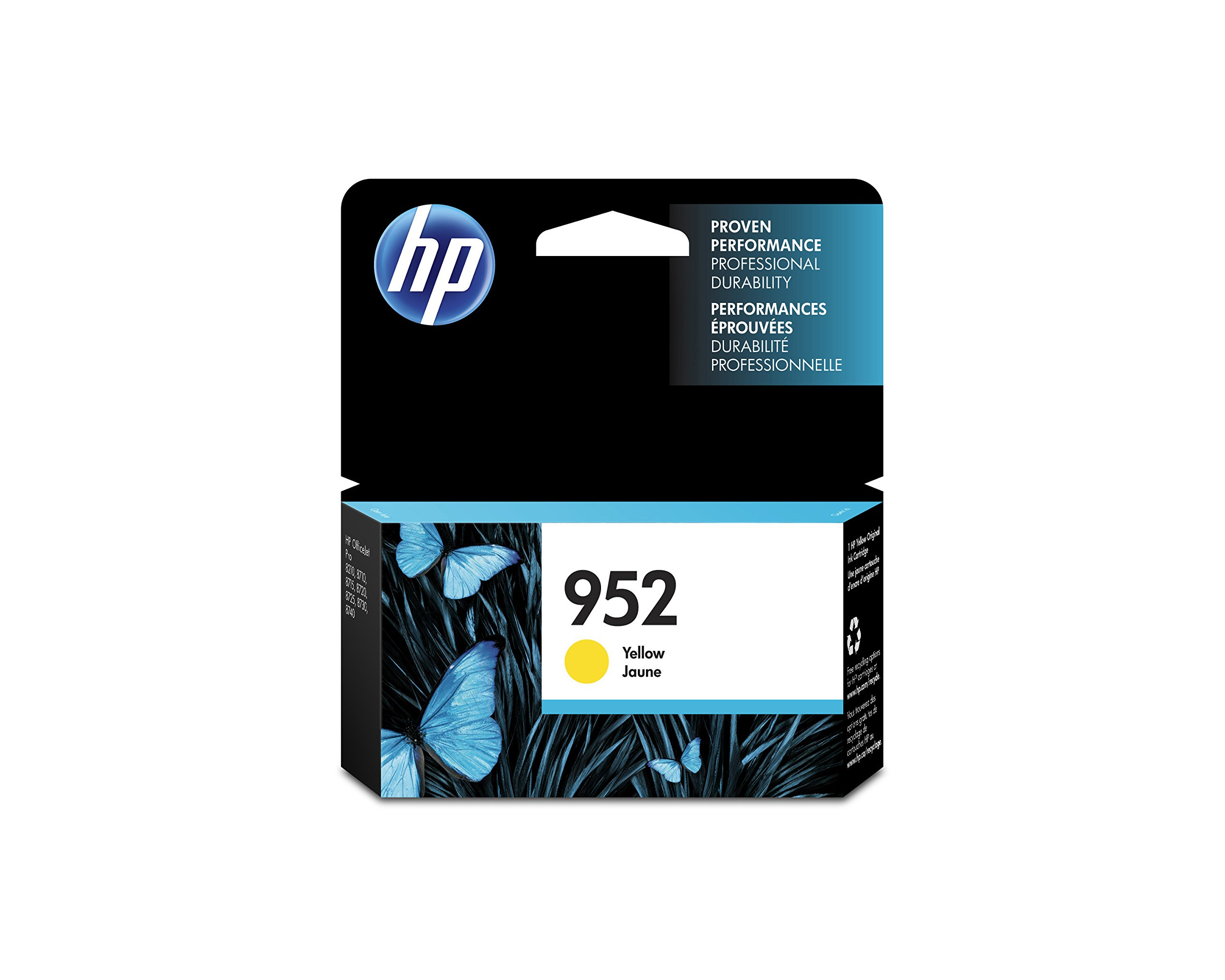 HP 952 Yellow Original Ink Cartridge (L0S55AN) for HP OfficeJet Pro 7740 8702 8710 8715 8720 8725 8730 8740