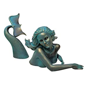 Design Toscano Meara, the Mermaid Sculptural Garden Swimmer