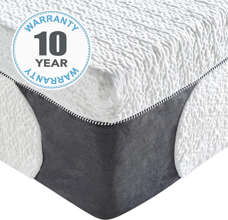 Classic Brands Cool Gel 1.0 Ultimate Gel Memory Foam 14-Inch Mattress with BONUS 2 Pillows , King, White: Furniture & Decor