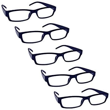 59fd86acc7 The Reading Glasses Company Dark Blue Value 5 Pack Lightweight Mens Womens  RRRRR32-3 +