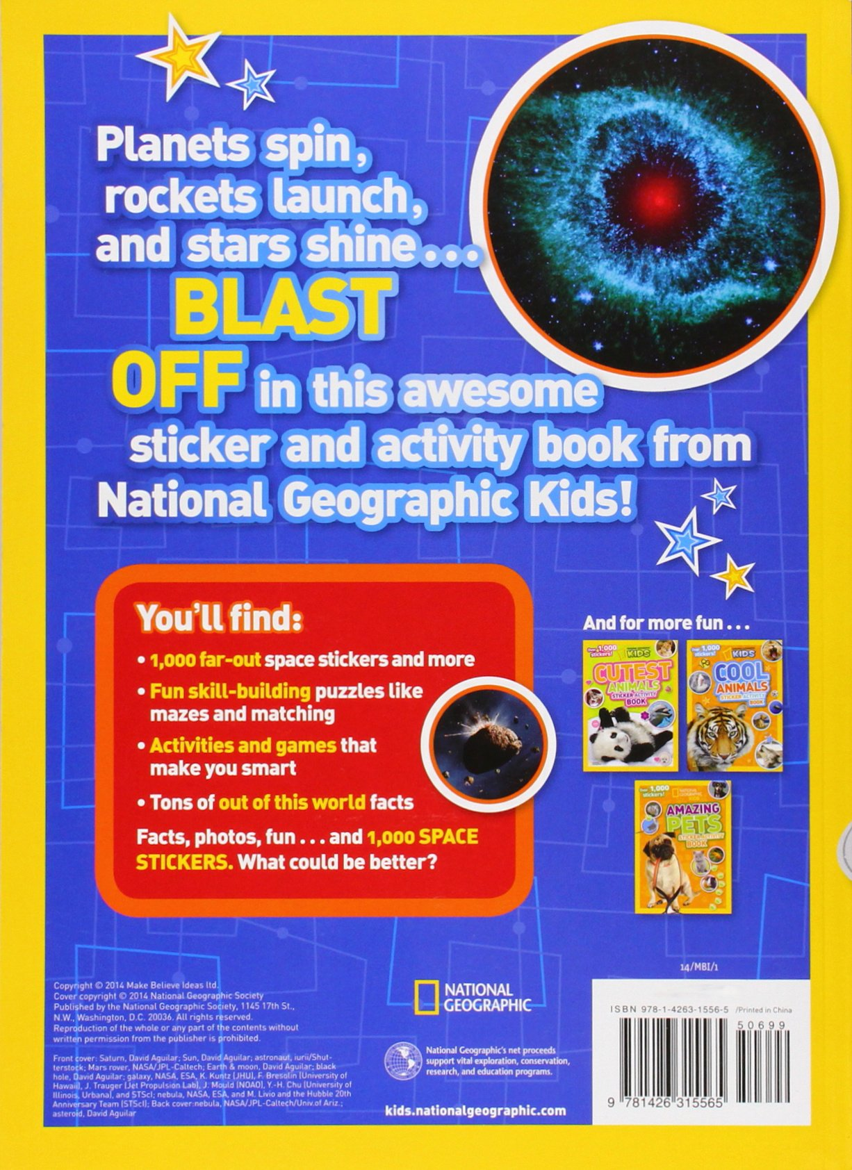 National Geographic Kids Super Space Sticker Activity Book Over 1 000 Stickers 0884200125929 Amazon Books