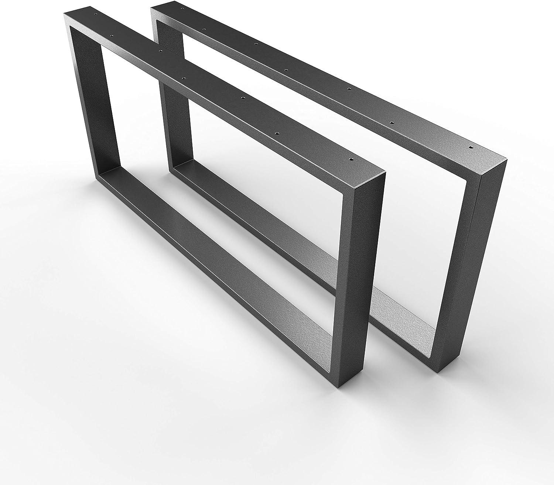 Sossai Bastidor//Estructura para la Mesa Basic Color: Blanco CKK1 con Recubrimiento de Polvo Pareja | Material: Acero//Ancho 50 cm x Altura 40 cm 2 Piezas