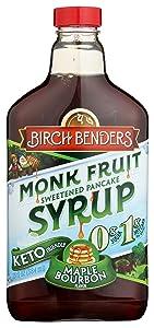 Birch Benders Flavored Monk Fruit Syrup, Maple Bourbon Magic, 13 Fl. Oz