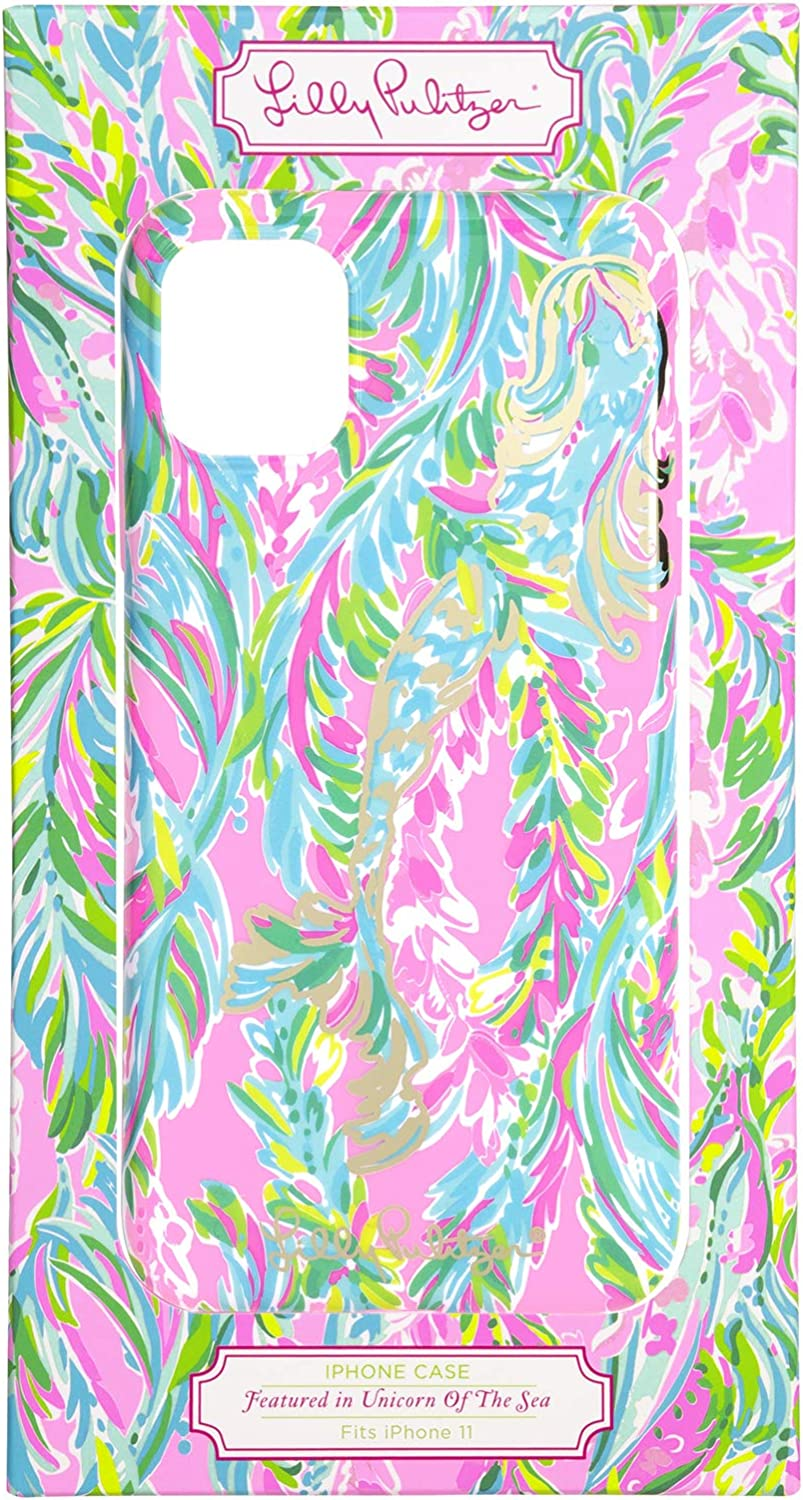 Lilly Pulitzer Cute Pink/Green/Blue iPhone 11 Case for Women, Unicorn of The Sea