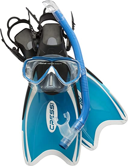 Made in Italy Cressi Snorkel Set Kids with Flippers