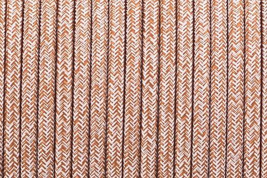 3 Core 0,75 mm rot multi Tweed – Antik geflochten rund gewebte Seide ...