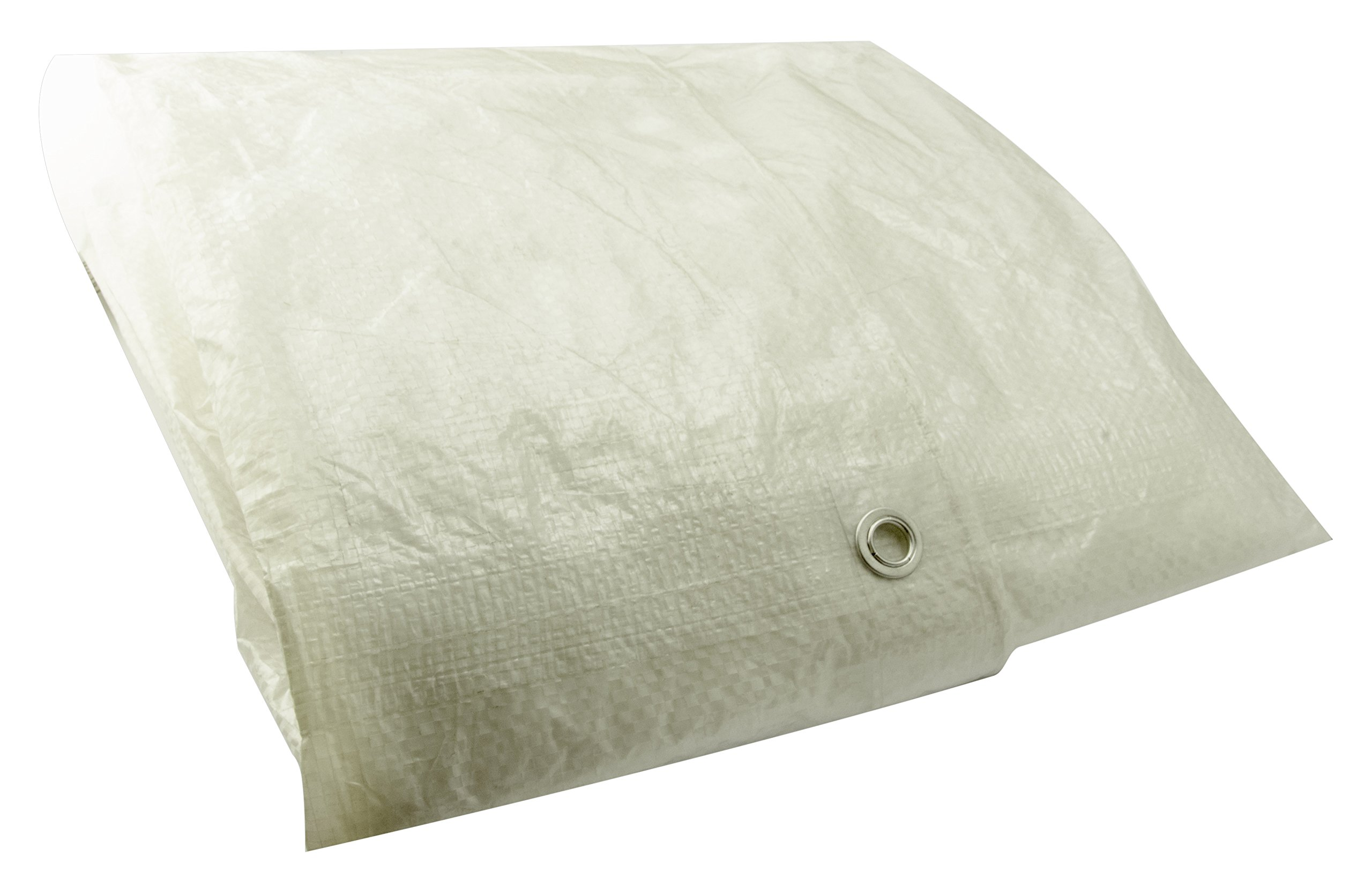 Erickson 57061 Clear White Economy Grade Poly Tarp, 8' x 10', 1 Pack