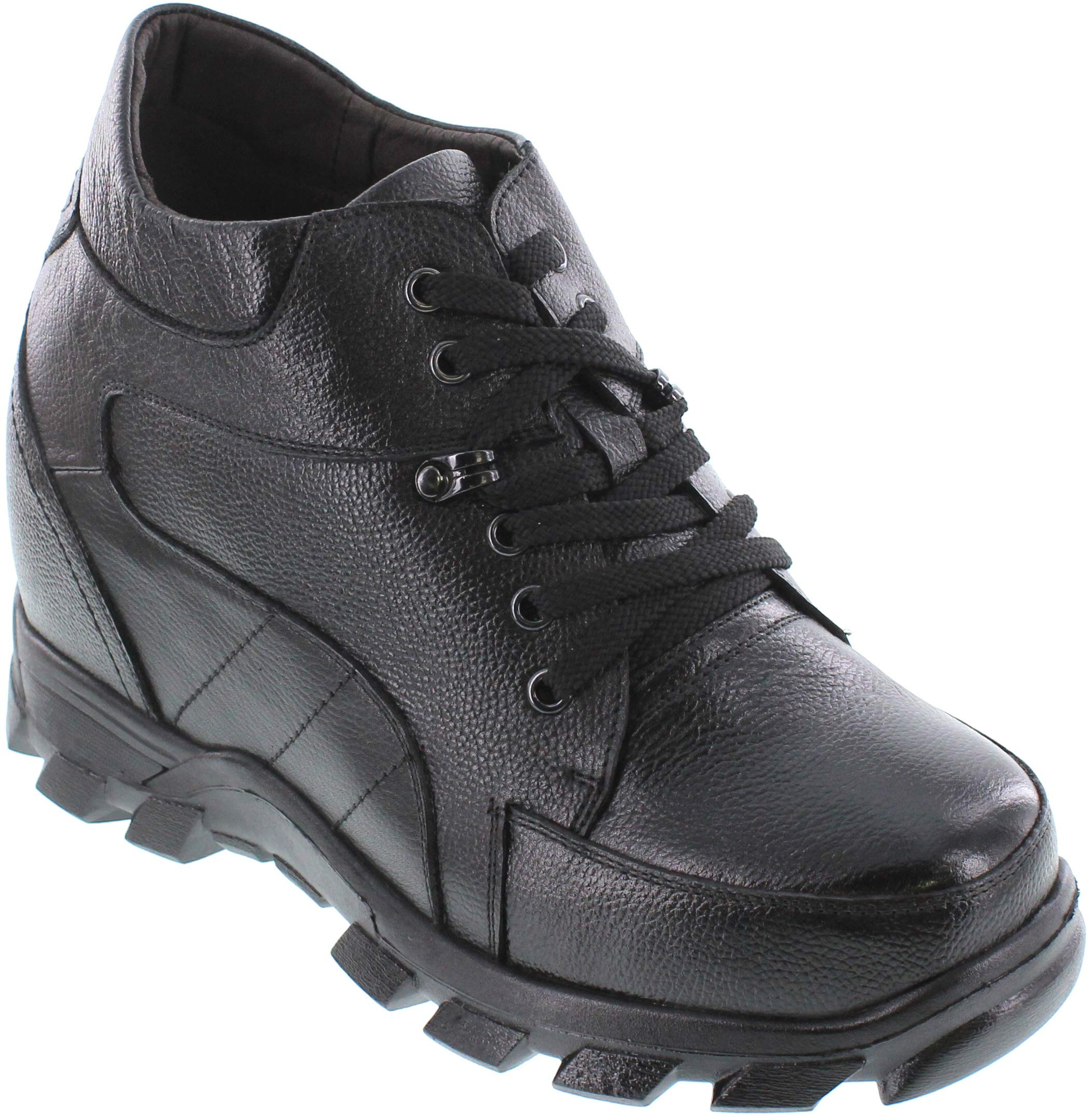 Calden - K107216-5.2 Inches Taller - Height Increasing Elevator Shoes-Black Lace up Boot (10 D(M) US)