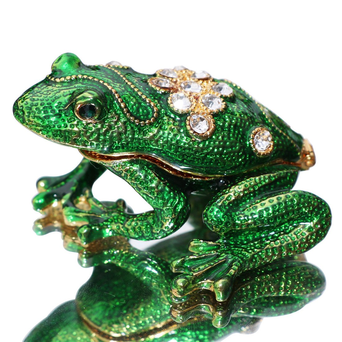 ltd Waltz/&F Back drill frog Trinket Box Hinged Hand-painted Animal Figurine Collectible Ring Holder Dongguan city guchu trading co
