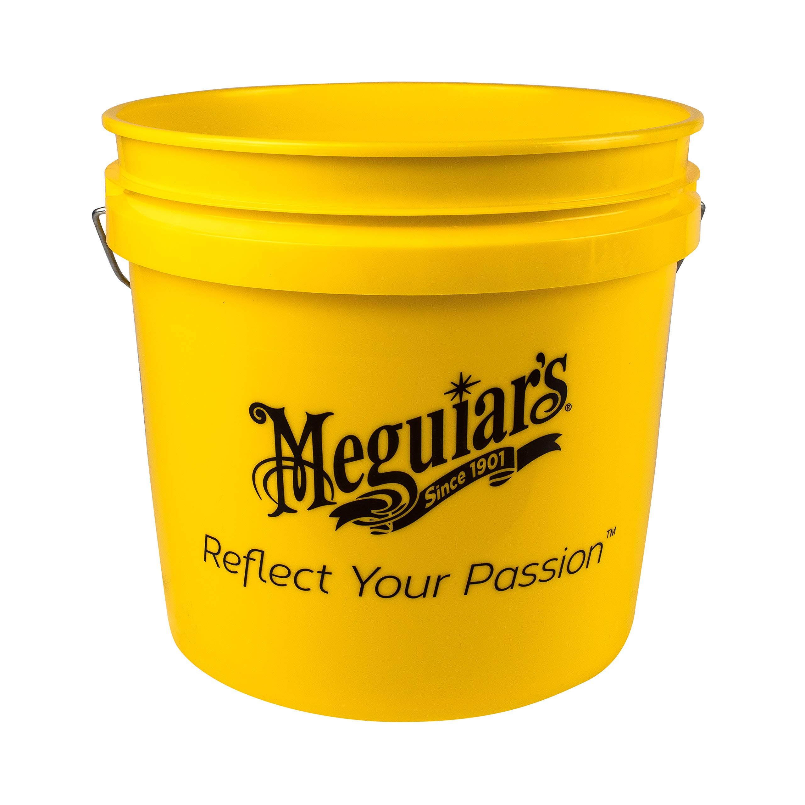 Meguiar's VBUCKET3.5GAL Yellow Bucket – Make Car Washing Easy With Bright Bucket for Water and Suds – 3.5 gal