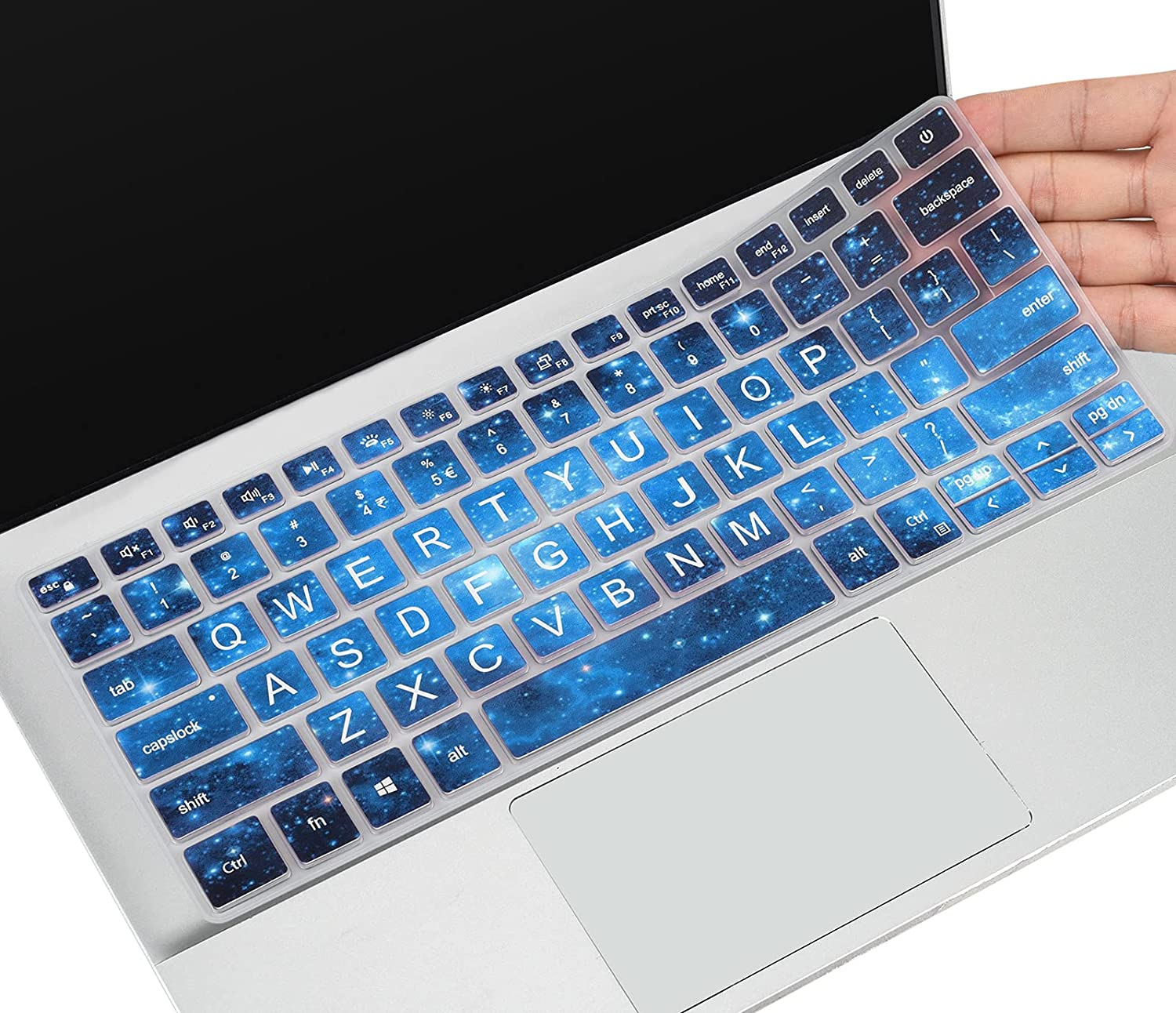 Keyboard Cover for New Dell Inspiron 13 14 5300 5301 5390 5391 7390 7391 7300 7306 5400 5402 5405 5406 5490 5493 5498 7405 7406 7490 / Dell Vostro 13 14 5301 5390 5391 5490 5401 5402, Blue Star