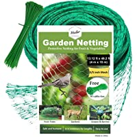 """HSelar Best Bird Netting - Protect Plants and Fruit Trees from Birds and Wildlife €"""" 13.12Ft x 49.2Ft Bird Netting with 50 Pcs Nylon Cable Ties - Reusable Instantly (Large Size)"""