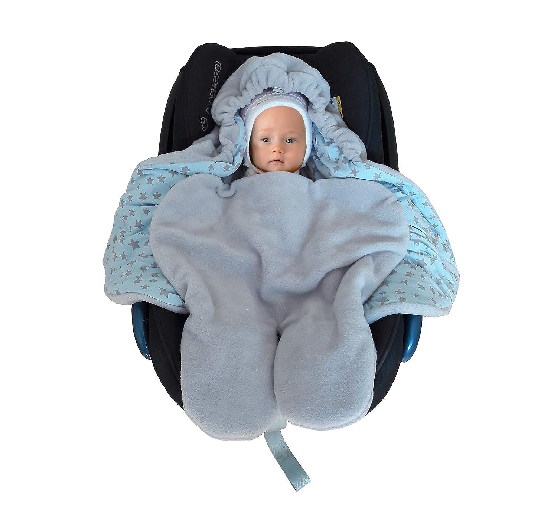 saco para Silla de coche grupo 0 ni/ño envolver manta Azul Polar Afelpado y algod/ón Peg-P/érego Maxi-cosi reci/én nacido cochecito fabricado en Europa SWADDYL Beb/é