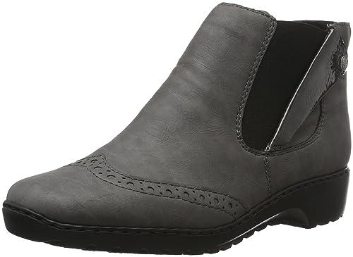 Rieker Womens Z6092 Ankle Boots Grey (Dust/Fumo/42) 6 UK
