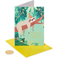 Papyrus Funny Birthday Card (Sloth)