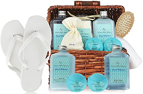 Amazon.com: Deluxe Cesta de Spa, cool Aguas Cestas de Regalo ...