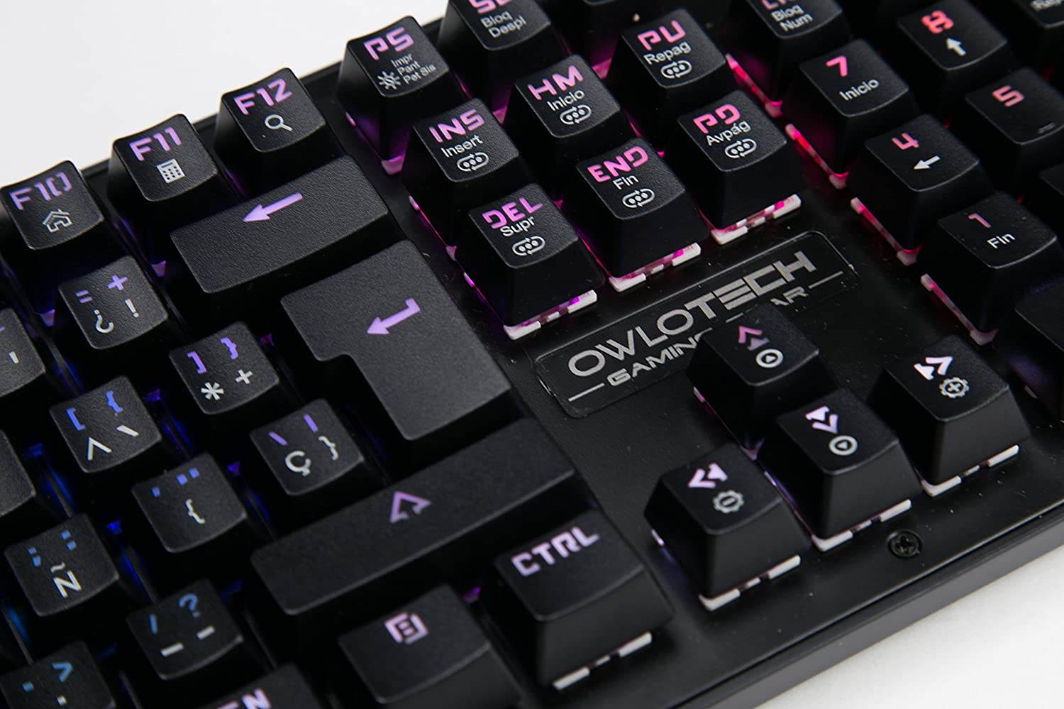 Owlotech K10 - Teclado RGB Mechanical Gaming (Red Switches) Color Negro