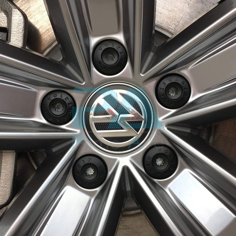 Original Volkswagen Abdeckkappenset Für Radschrauben Auto