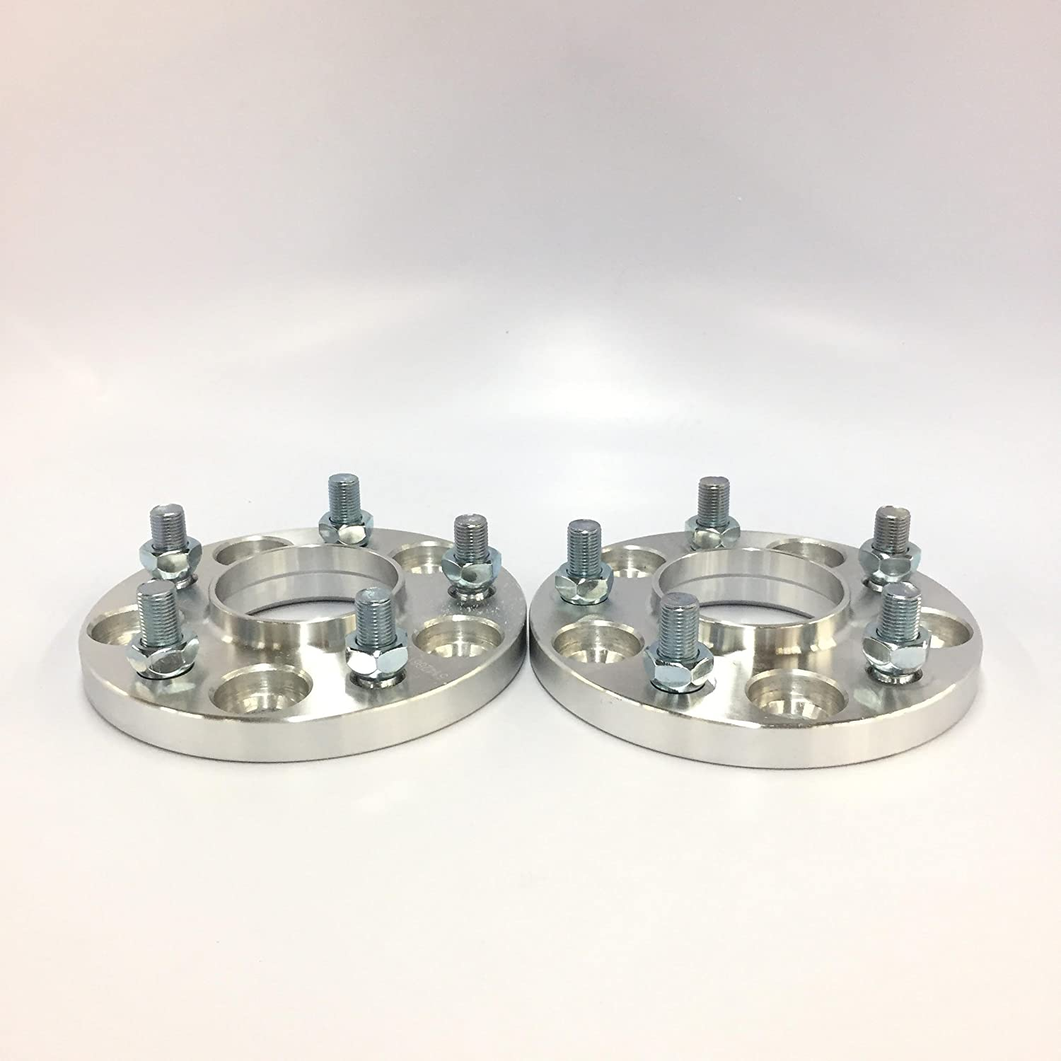 5x105 to 5x100 Center Bore 56.5mm to 54.1mm Thread 12x1.5 Customadeonly 4 Pieces 0.59 15mm Silver Hub Centric Conversion Wheel Adapters Spacers Change Bolt Pattern
