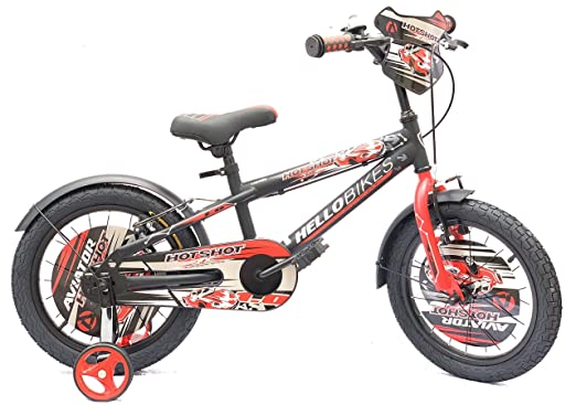HelloBikes High End 16 inch Kids Boys Bicycle for 4-8 Years with Frame 10 inch (+7 inch Extension) - European Brand