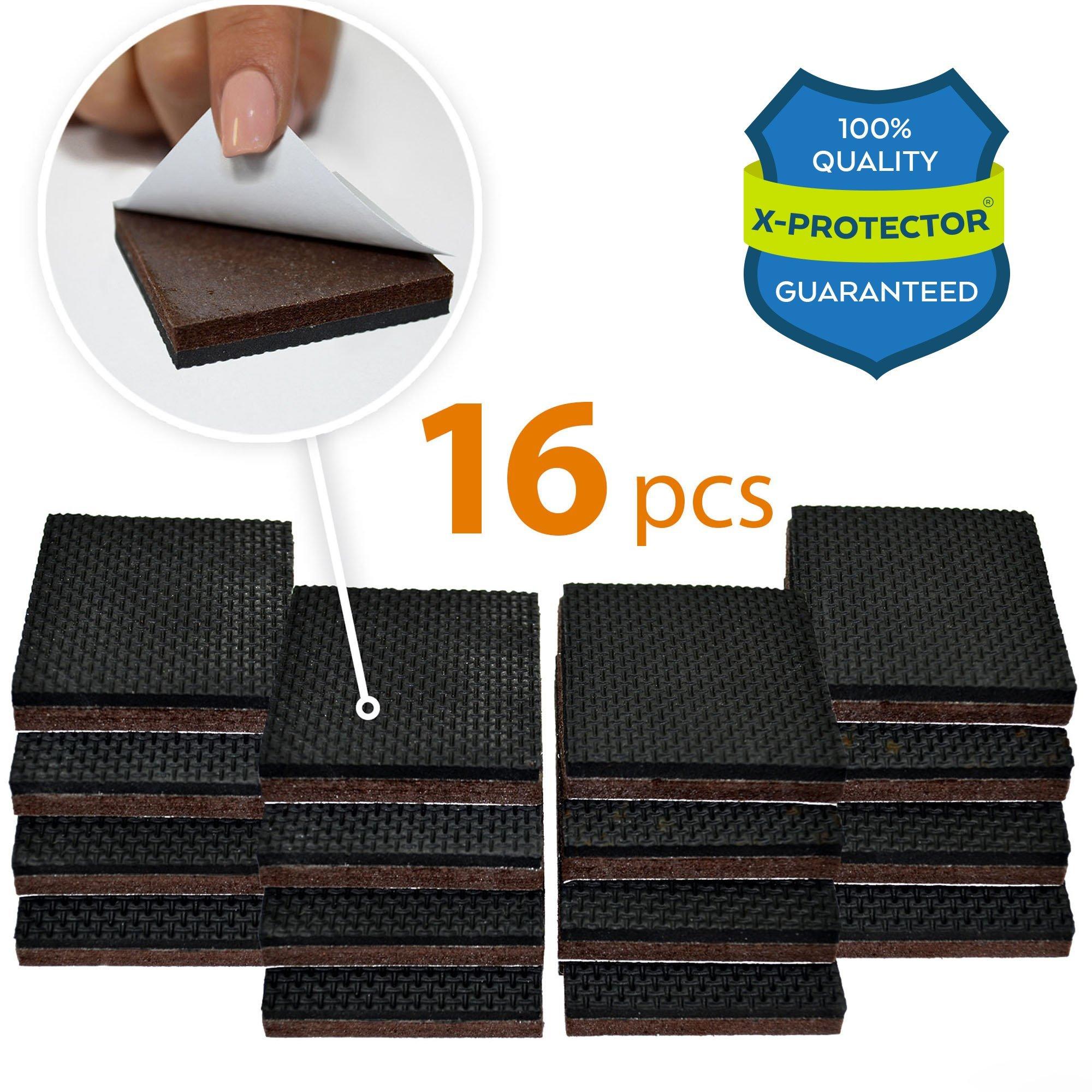 Etonnant NON SLIP FURNITURE PADS X PROTECTOR U2013 PREMIUM 16 Pcs 2u201d Furniture Grippers!  Best SelfAdhesive Rubber Feet Furniture Feet U2013 Ideal Non Skid Furniture Pad  ...