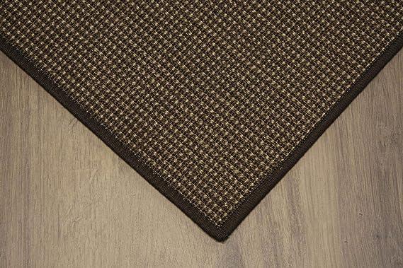 Sisal Teppich umkettelt grün 120x180cm 100/% Sisal gekettelt