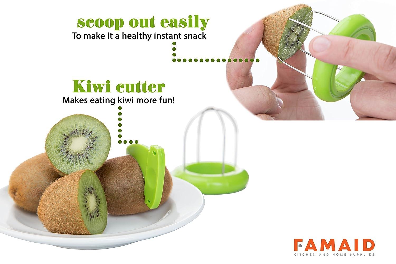 ... para 6 por wahilulu - Descorazonador, sandía, plástico naranja pelador cortador de piña de acero inoxidable, Banana, cortador de tomate, Kiwi y cuchillo ...