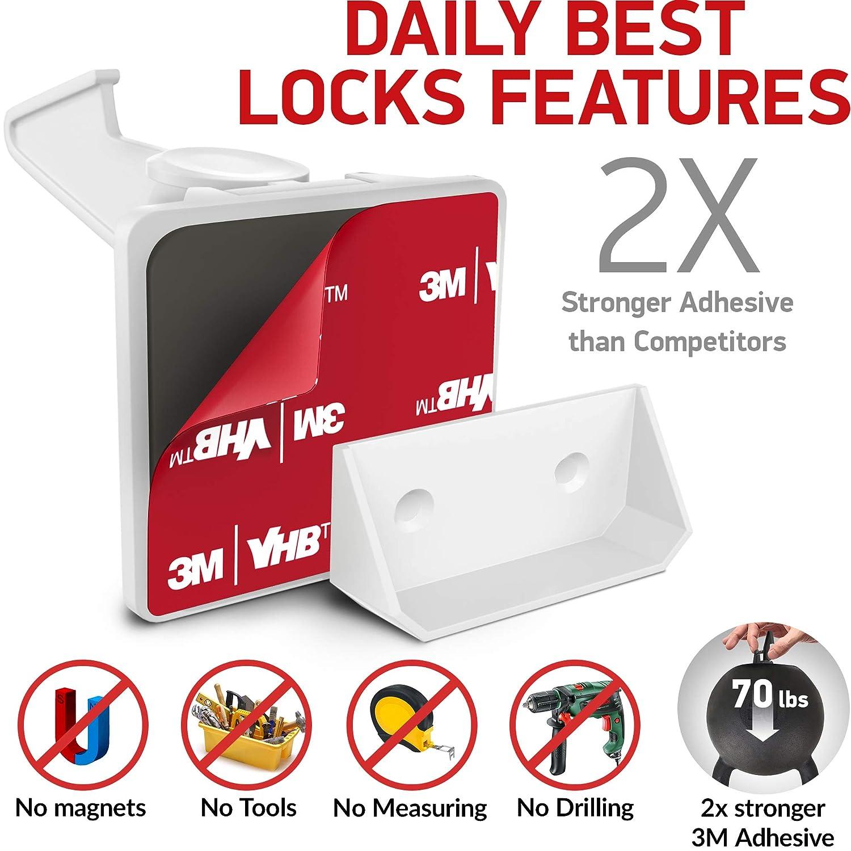 Kitchen Cabinet Locks Child Safety - Adhesive Child Proof Cabinet Locks -  Baby Safety Cabinet Locks -