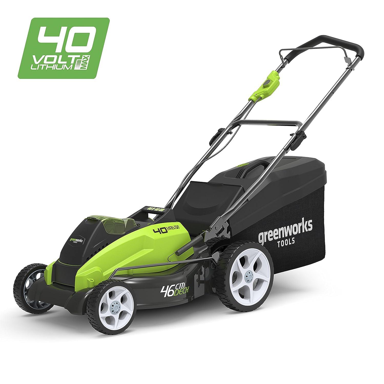 Greenworks Tondeuse à gazon sans fil sur batterie 45cm 40V Lithium-ion  (sans batterie ni chargeur) - 2500107  Amazon.fr  Bricolage a7a7c673e2ae